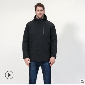 秋冬男女智能发热冲锋衣USB碳纤维加热旅行外套冬季男女发热棉衣
