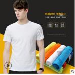 纯棉圆领短袖毕业班服定制t恤印logo团体广告衫企业文化衫批发