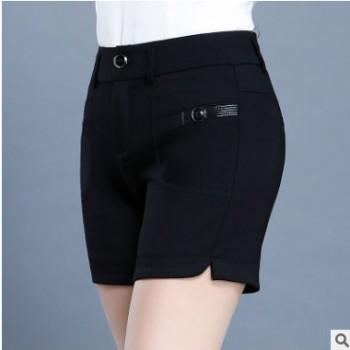 百搭短裤女春夏2020新款韩版高腰大码修身女裤休闲外穿打底热裤