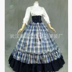 新款 lolita哥特式维多利亚格子连衣长裙 宫廷洋装 颜色可选