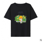 棉帛 纯棉短袖圆领女T恤 2020春夏印花中长款大T休闲T恤上衣潮