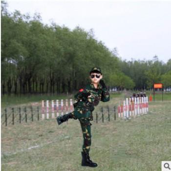 儿童迷彩服套装 儿童陆军特战迷彩服 户外拓展训练服军训服批发