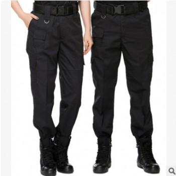 斜纹棉黑色防静电保安执勤特训裤子 特战长裤 511特勤保安作训裤