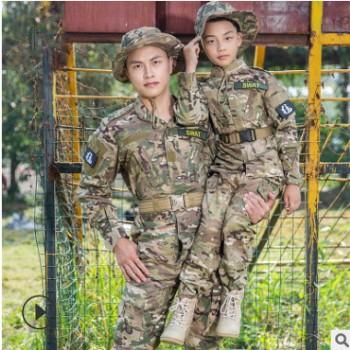 儿童美军二代军装作战服男特种兵野战战术服女户外军迷迷彩作训服