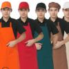 厂家直销厨师围裙韩版围腰餐厅挂脖厨房围裙厨师工作服纯色定制女