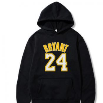 新款队24科比篮球运动连帽套头圆领卫衣 男士学生秋装外套批发