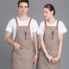 餐饮咖啡厅酒吧日韩火锅点工作围裙男女服务员背带围腰印绣logo