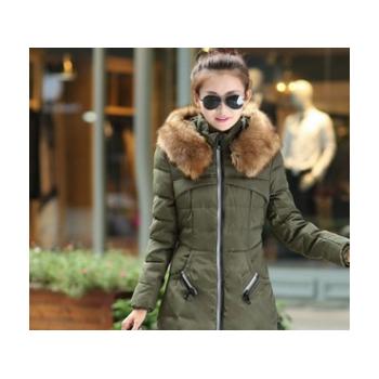 棉衣女2019秋冬季新款时尚韩版保暖女士羽绒棉修身中长款棉服女装
