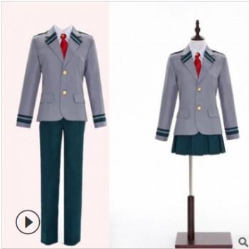 甜哒哒COS我的英雄学院 轰焦冻绿谷出久 丽日御茶子 校服 cosplay