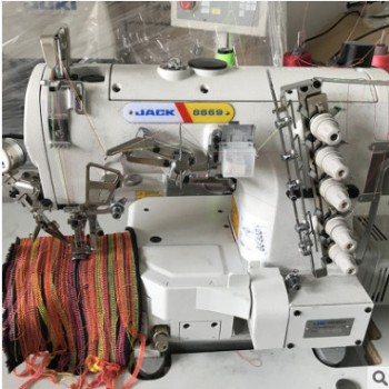 供应三针平缝机 毛绒玩具 二手杰克8669B五线电脑绷缝机批发
