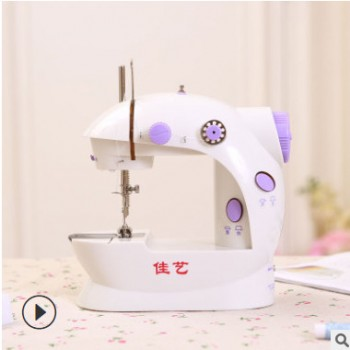 厂家批发正品佳艺202A袖珍迷你缝纫机家用缝纫机电动跨境专供