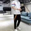 2019春夏新款运动套装男青年潮流条纹控韩版休闲宽松两件