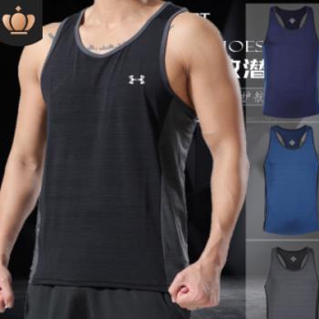 新品男私教上衣透气跑步速干背心无袖宽松运动健身团体综合训练衫