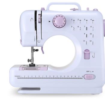 厂家批发家用505A芳华电动缝纫机台式锁边迷您多功能微型缝纫机