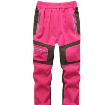 儿童户外弹力速干裤薄透气快干登山裤批发男童女童反光运动裤长