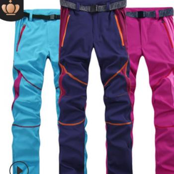 厂家直销户外运动速干裤男夏季薄款冲锋裤女士宽松弹力快干登山裤
