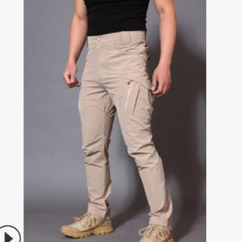 厂家直销新款男式纯色保暖速干裤男休闲百搭户外运动弹力裤男