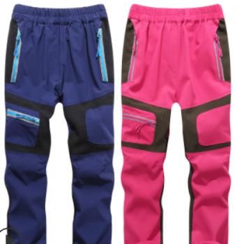 男女童速干裤夏季运动裤户外弹力薄款防蚊裤儿童登山裤运动长裤子