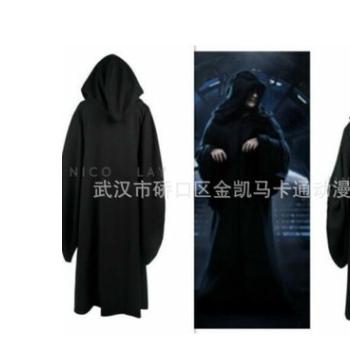 星战皇帝帕尔帕廷达斯西迪厄斯长袍Cosplay服装黑色斗篷