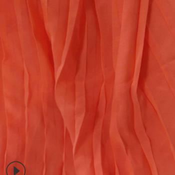 压皱雪纺面料 75D高捻珍珠雪纺压绉布料 百褶裙服装面料