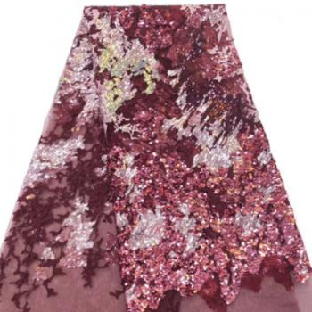 2019新款现货供应lace fabric非洲花边蕾丝婚纱