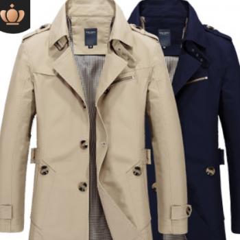2020春季男装新款男式夹克休闲 男士jacket薄工作外套纯棉风衣