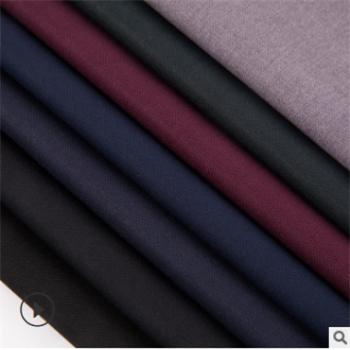 新款TR双面哔叽 斜纹哔叽校服面料 人棉哔叽布料风衣西装纺织布料
