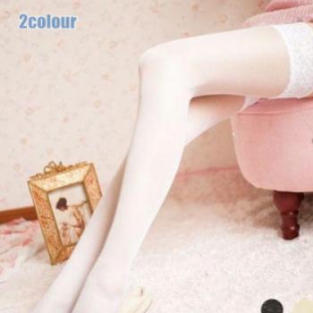 外贸女士情趣内衣 欧美性感透明蕾丝花边长筒丝袜 大腿袜吊袜带
