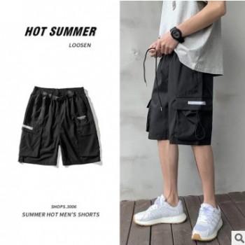 短裤男士夏季休闲运动多口袋工装裤宽松街头男生五分裤时尚服装潮