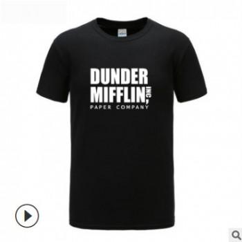 DUNDER MIFFLIN 短袖T恤男士爆款T Shirt速卖通ebay wish一件代发