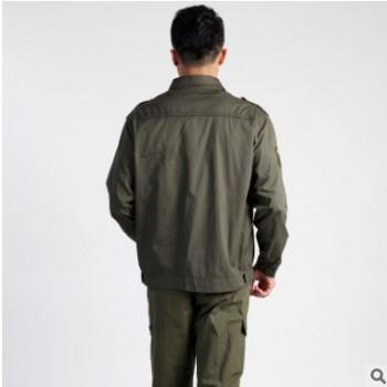 作训服 纯色耐磨工作服 军绿色工作服套装可定做厂家直销批发