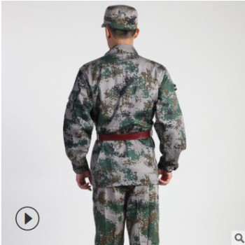 07夏迷彩服套装男女款军训服 户外作训服迷彩军旅工装批发