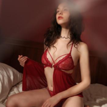 蕾丝性感睡衣薄款夏季吊带睡裙女透明火辣情趣内衣