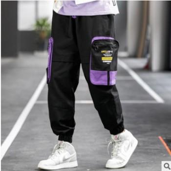 2020春秋季新款INS潮牌港风大口袋工装裤宽松男士休闲裤