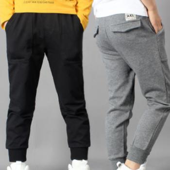 童裤2020春秋季新款韩版男童运动裤 中大童纯棉休闲长裤儿童裤子