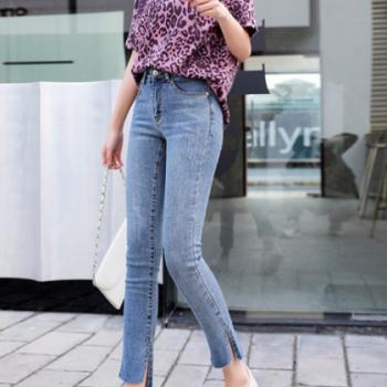 TH[与恩君]A*052九分裤韩版修身弹力小脚裤2020女装高腰牛仔裤