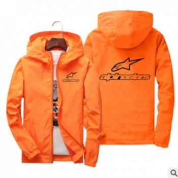 秋季Alpinestars新款男士防风防水风衣定做长袖拉链外套定制logo