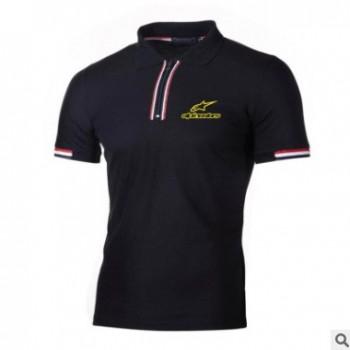 Alpinestars夏季短袖男士Polo衫翻领新款青年商务休闲弹性男上衣