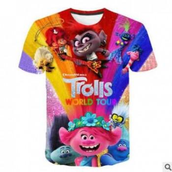 夏季新款成人童装 魔法精灵3D印花圆领套头卡通短袖T恤厂家直销