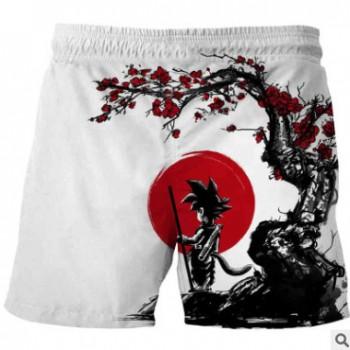 夏季新品wish新款3d印花七龙珠 数码印花儿童短裤 速卖通 童装