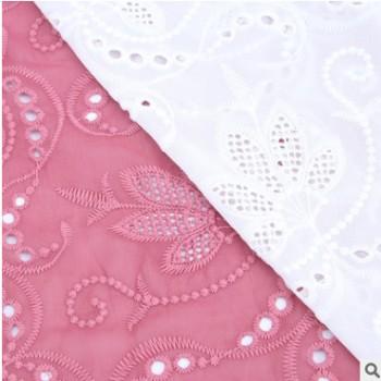 雪纺牛奶丝刺绣花边 牛奶丝高密雕孔花边 连衣裙涤纶真丝绣花花边