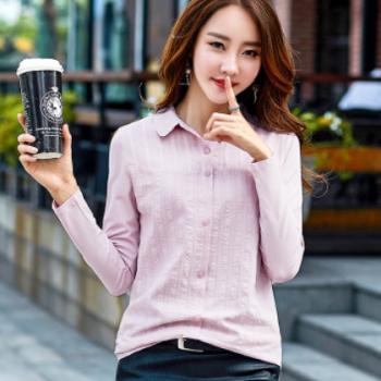 2020秋季新款女装长袖衬衫女打底衫韩版女士t恤上衣一件代发6028