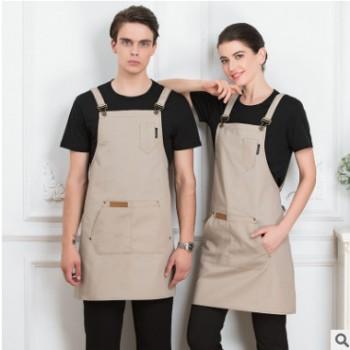 广告围裙定制可印logo美甲厨师厨房韩版时尚男女士定做工作服
