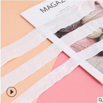 厂家批发0.8-4cm有光包边带 7070光面弹力松紧带尼龙彩色发带织带