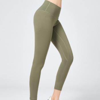 跨境lulu新款高腰瑜伽裤女提臀运动速干裸感健身裤显瘦紧身裤九分