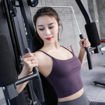 跨境露背性感带胸垫运动文胸聚拢定型背心式收副乳健身房吊带背心