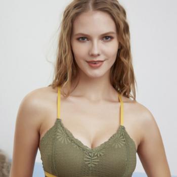 新款蕾丝美背裹胸 性感吊带交叉网红百搭背心内衣女 厂家直销