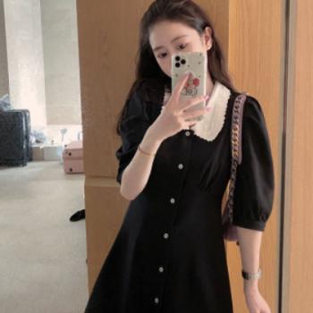 2020春夏新韩版连衣裙 格子A字短裙穿起来就hin有气质女装潮
