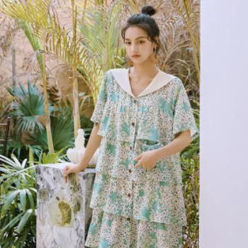2020shallgar夏季新款女装一件代发一键传淘画报女郎连衣裙