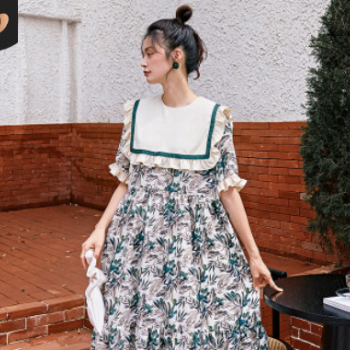 2020shallgar夏季新款女装一件代发一键传淘梦幻少女连衣裙